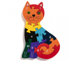Number Jigsaw Puzzle - Cat