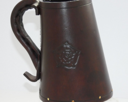 LEATHER TANKARDS - BROWN (L)
