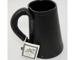 LEATHER TANKARD - BLACK - (L)