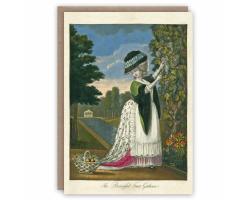 Beautiful Fruit Gatherer greetings card