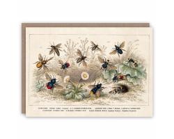 Honey Bees greetings card