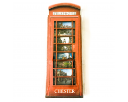 Chester Wooden Phone Box Magnet