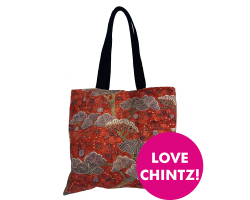 Tote Bag Chintz Morning Gown