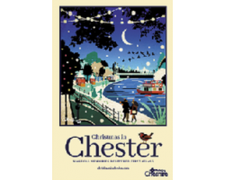 A3 Christmas River Dee Poster