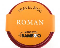 Roman Bamboo Travel Mug