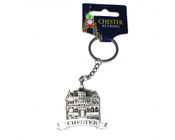 Chester Rows Metal Keyring