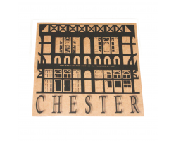 Brown Chester Rows Greetings Card