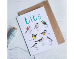 Tits greetings card