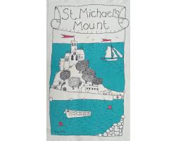 St Michael's Mount Art Tea Towel