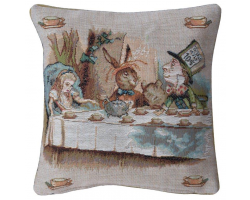 Alice in Wonderland Tea Party  Cushion Cover