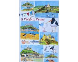 St Michael's Mount Oyster Catcher Tea Towel