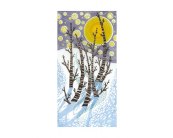 Snow Birches greetings card