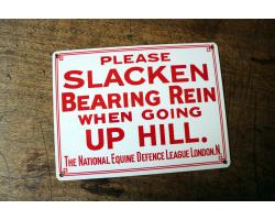 1900s Bearing Rein Enamel Sign