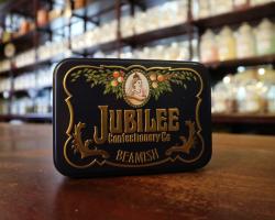 Liquorice Satin Sweets in Jubilee Tin