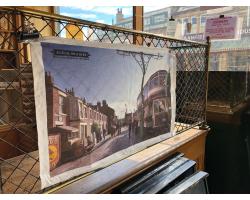 1900s Town Street Tea Towel