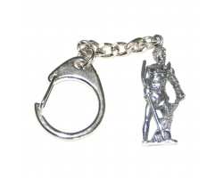Roman Gladiator with Trident Keyring