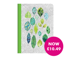 Designers Guild Tulsi Leaves Embroidered Journal Image