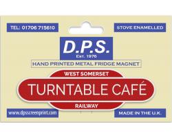 Turntable Cafe Fridge Magnet