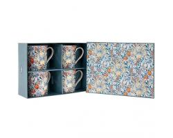 Boxed Set of Four William Morris Mugs