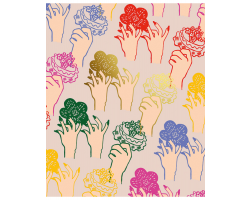 Zandra Rhodes Hands & Flowers greetings card