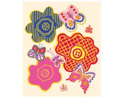 Zandra Rhodes Buttons & Butterflies g/card