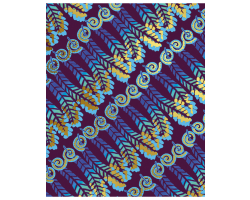 Zandra Rhodes Feather Stripe greetings card Image