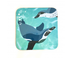 Nicky Thompson Chester Zoo Coaster - Penguins Image