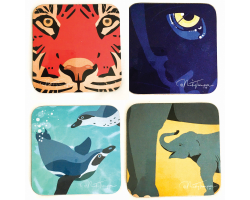 Nicky Thompson Chester Zoo Coaster Set