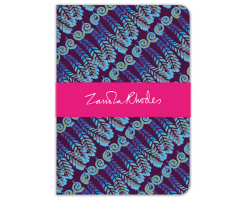 Zandra Rhodes Feather Stripes deluxe notebook Image