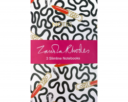 Zandra Rhodes x3 notebooks