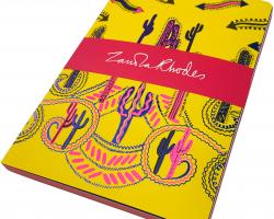 Zandra Rhodes Cactus Yellow A5 notebook