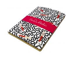 Zandra Rhodes Lipstick Wiggle A5 notebook Image