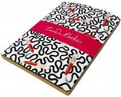 Zandra Rhodes Lipstick Wiggle A5 notebook