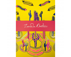 Zandra Rhodes Cactus Yellow A5 notebook